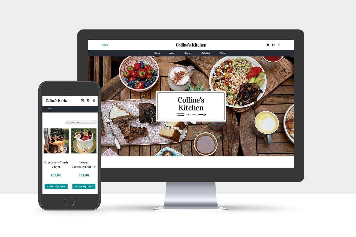 colline's kitchen website design