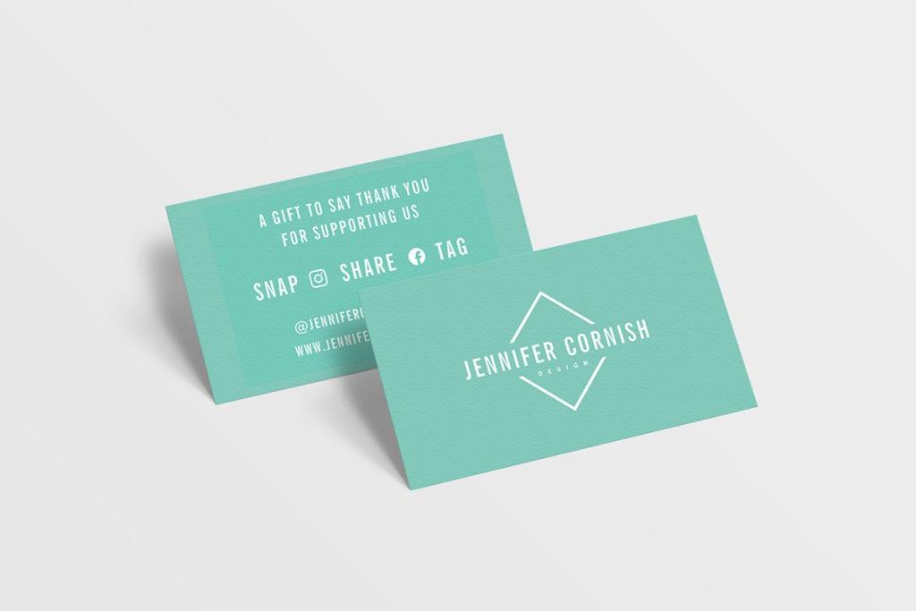 Jennifer Cornish Designs business cards